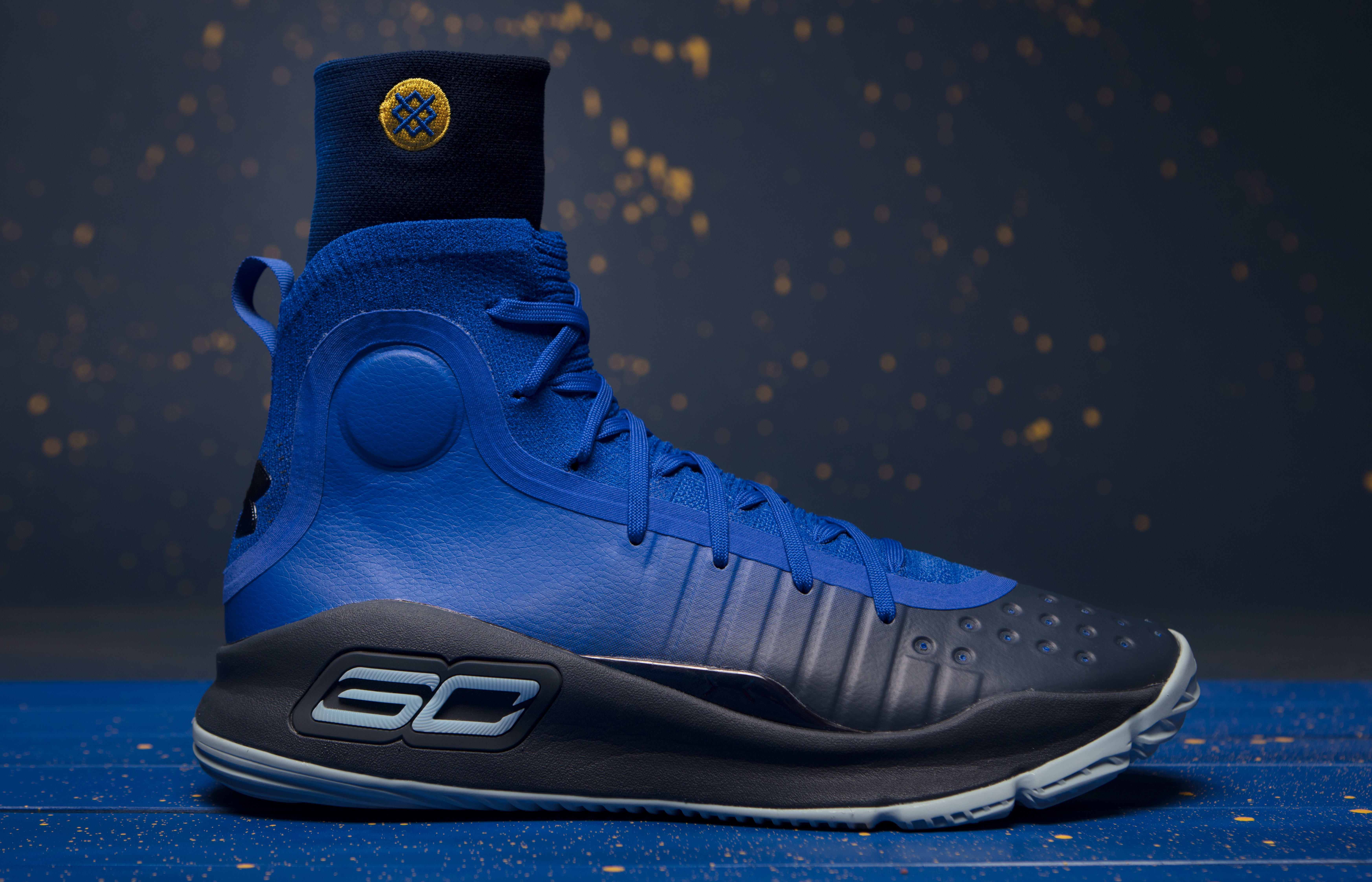 c19b1769a454 Image via Under Armour Under Armour Curry 4 More Fun 1298306-401 x Stance  1326667 ...