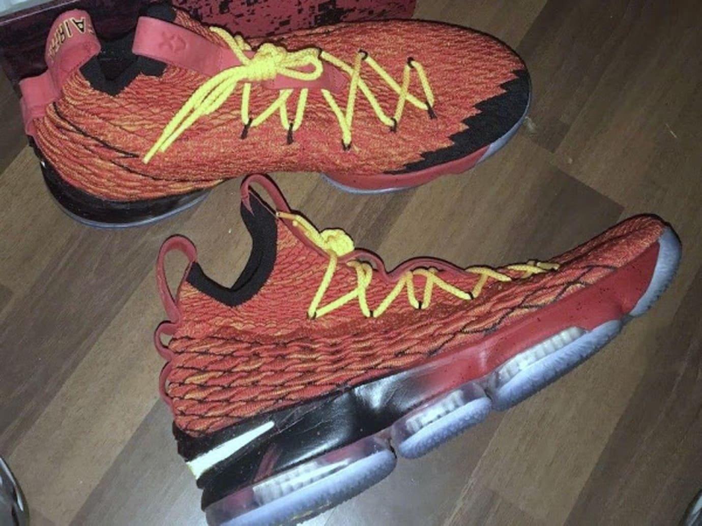 big sale 548fd fca5b Nike LeBron 15 'Fairfax Lions' Player Exclusive Sneakers ...
