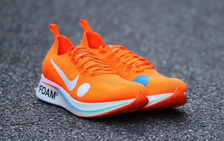 Off-White x Nike Zoom Fly Mercurial Flyknit Total Orange Release Date AO2115-800 Toe
