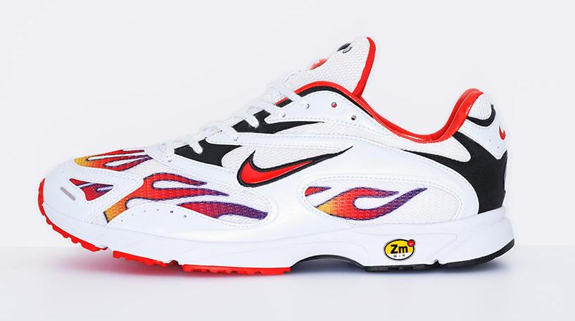 Supreme x Nike Zoom Streak Spectrum Plus AQ1279-100 (Lateral)