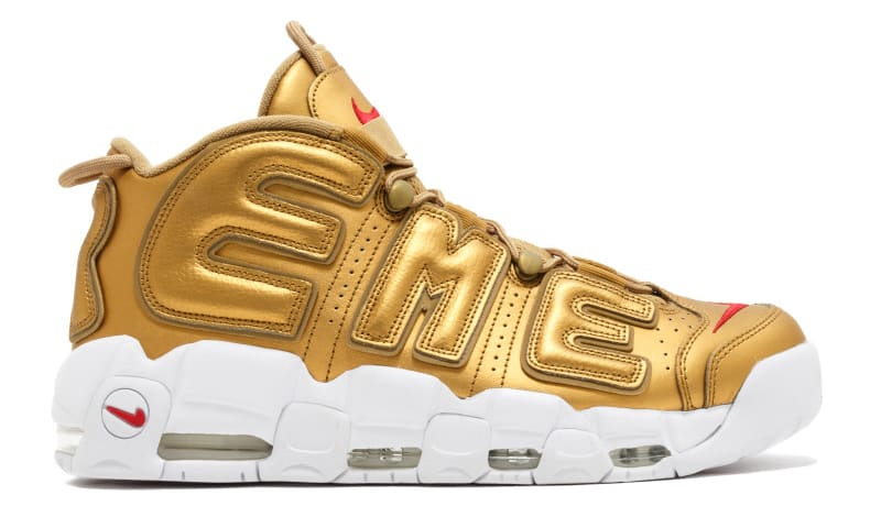 Supreme Nike Air More Uptempo Gold Release Date Profile 902290-700