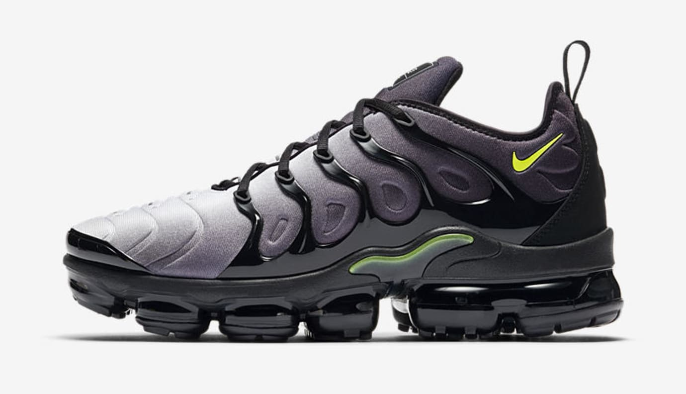 Nike Air VaporMax Plus 'Black/Volt' 924453-009 (Lateral)