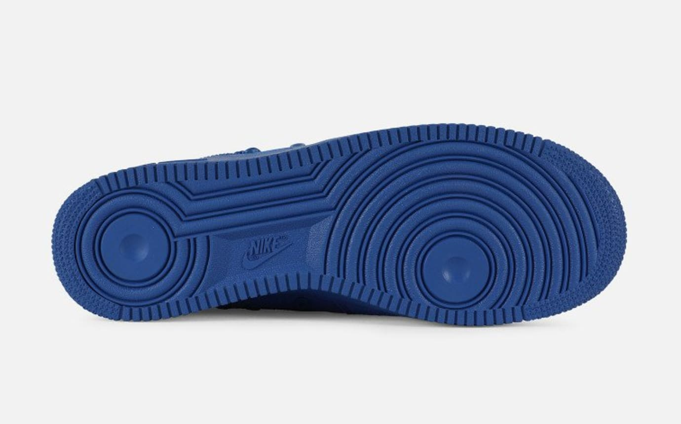 Nike SF Air Force 1 Blue Suede Release Date 864024-401 Sole