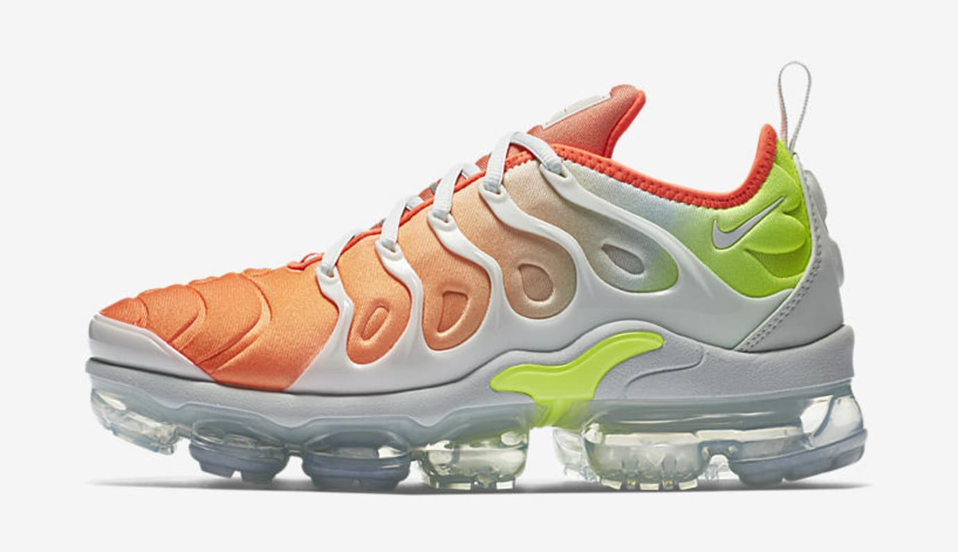 e40e83863a2 Image via Nike Nike Air VaporMax Plus  Barely Grey Total Crimson   AO4550-003 (Lateral