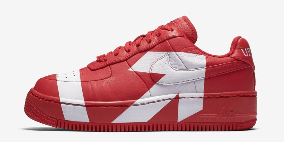 Nike Air Force 1 Upstep WMNS 'Red/White' (Lateral)