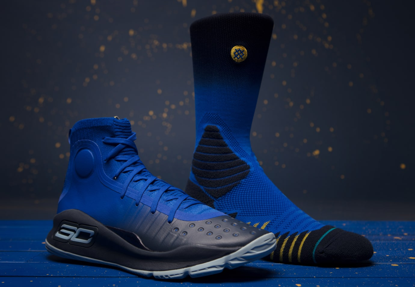 Under Armour Curry 4 'More Fun' 1298306-401 x Stance 1326667-400 Capsule 1