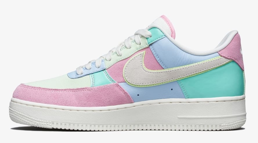 Nike Air Force 1 Low QS 'Ice Blue/Sail/Hyper Turq/Barely Volt' AH8462-400 (Medial)