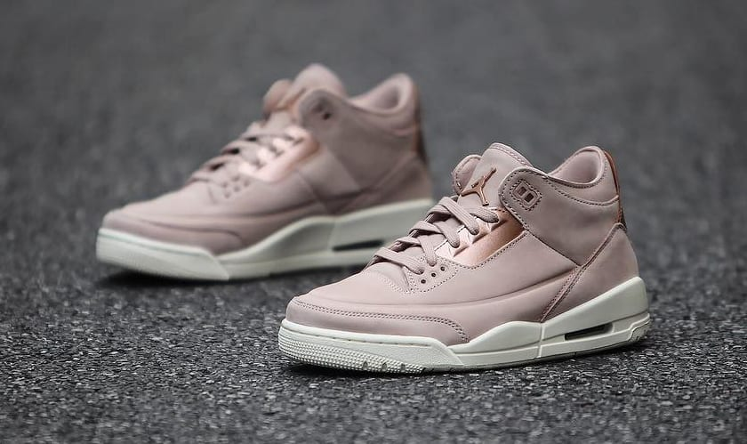 reputable site 83c7e d25a9 ... clearance image via gc911 air jordan 3 iii womens particle beige  release date ah7859 205 medial