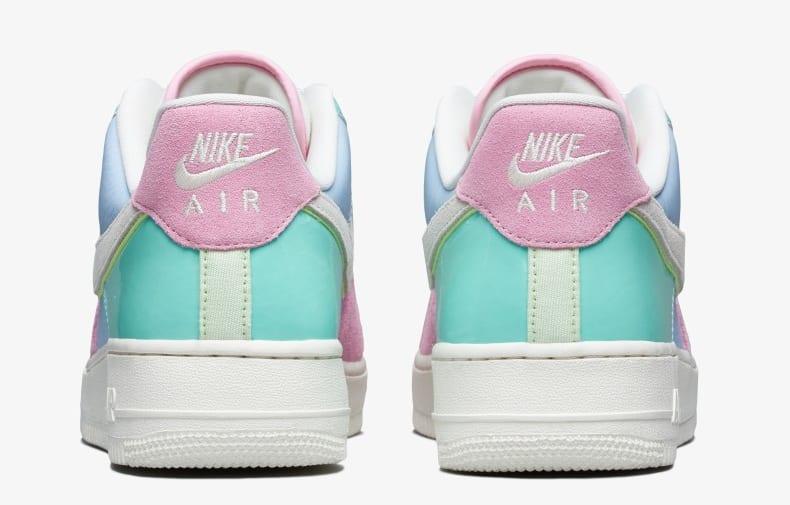 Nike Air Force 1 Low QS 'Ice Blue/Sail/Hyper Turq/Barely Volt' AH8462-400 (Heel)