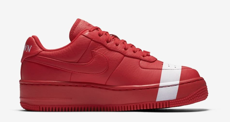 Nike Air Force 1 Upstep WMNS 'Red/White' (Medial)