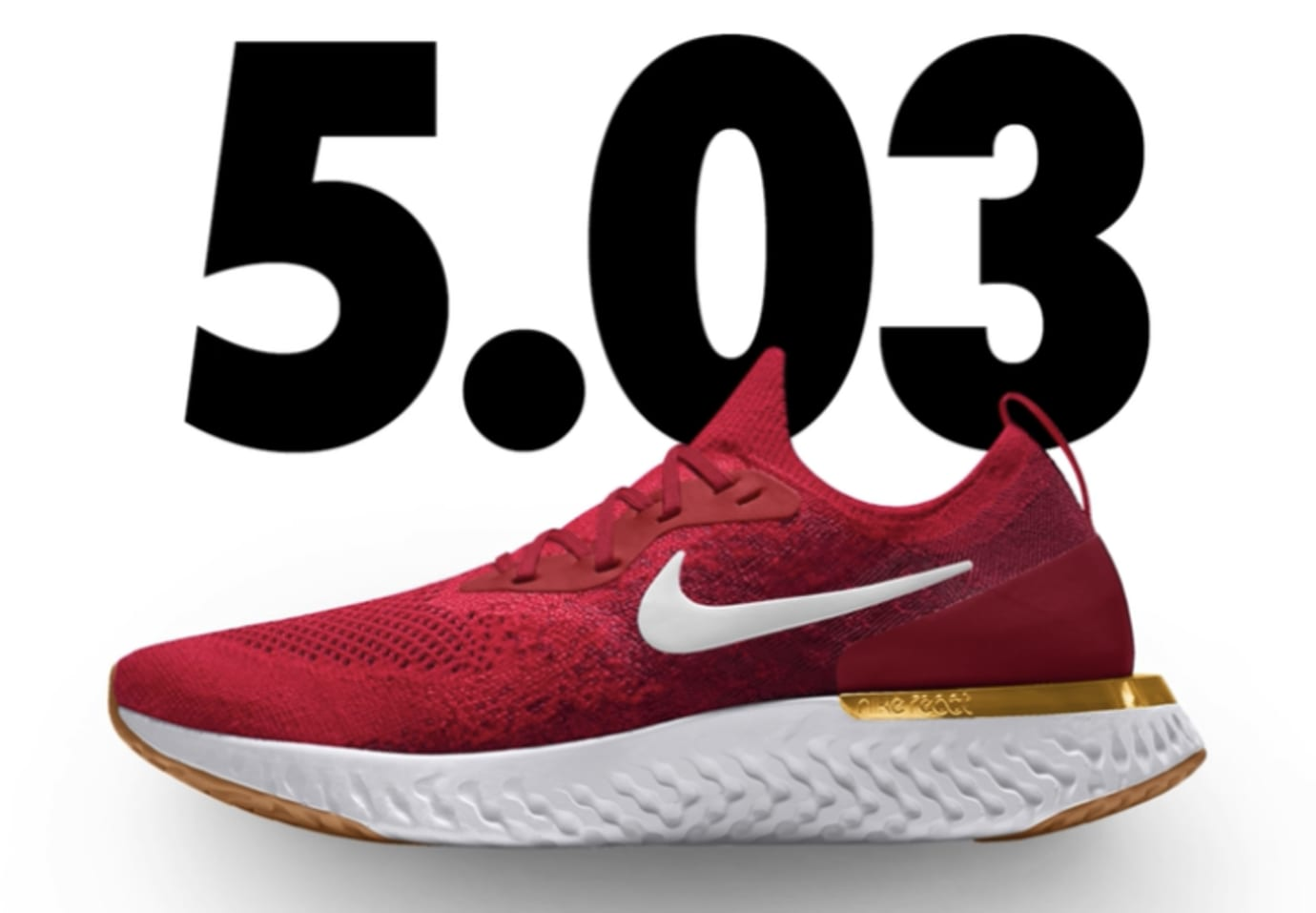 Nike Epic React Flyknit iD 'Red/Gold'