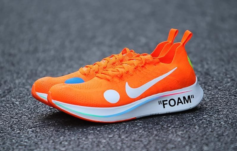 Off-White x Nike Zoom Fly Mercurial Flyknit Total Orange Release Date AO2115-800 Left