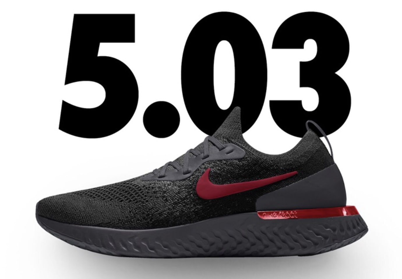 Nike Epic React Flyknit iD 'Black/Red'