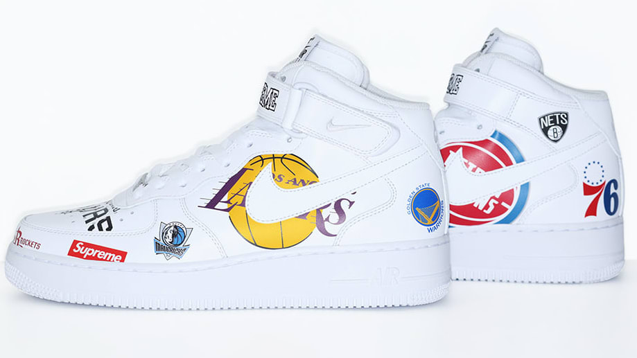nike air force 1 x supreme x nba