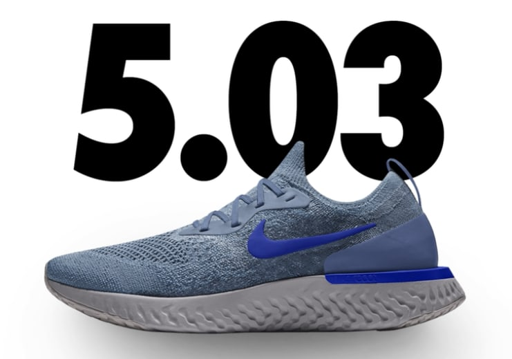 eef5579e9e18 ... hot nike epic react flyknit id light blue 30615 eb7fc