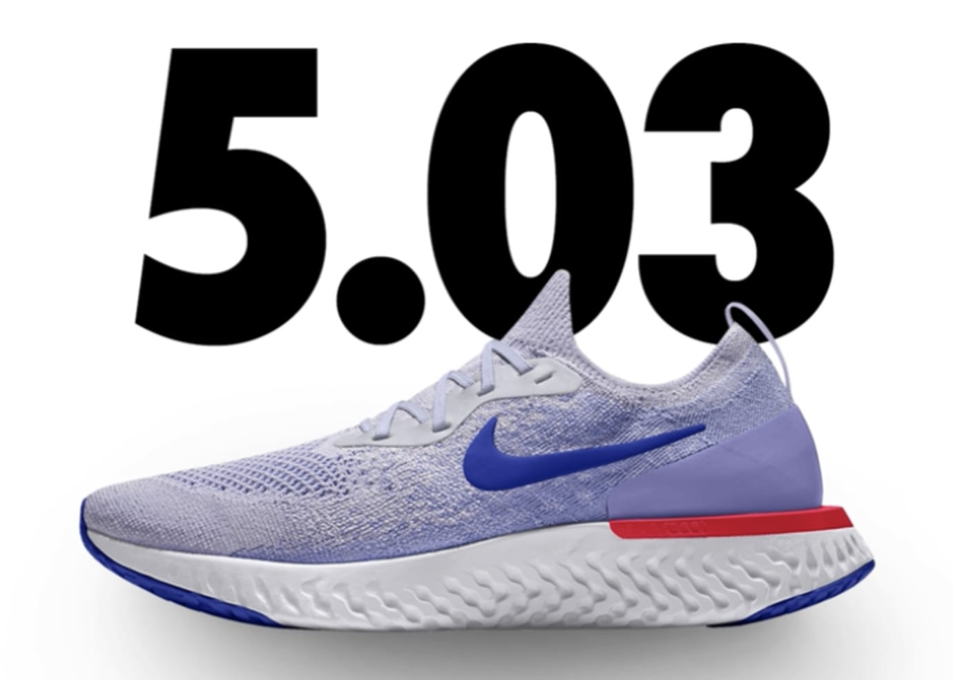 9ddd2ba3afe Nike Epic React Flyknit iD  Light Blue Red