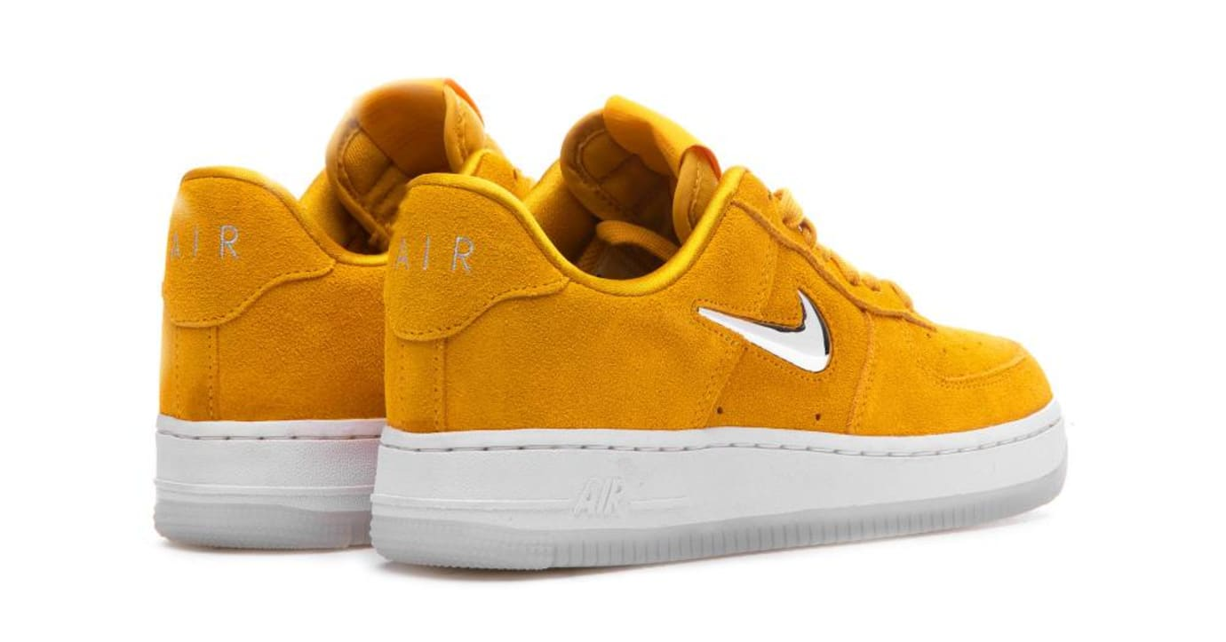 Nike Air Force 1  07 Premium LX Yellow Ochre Metallic Silver White ... 2aaa3255d2