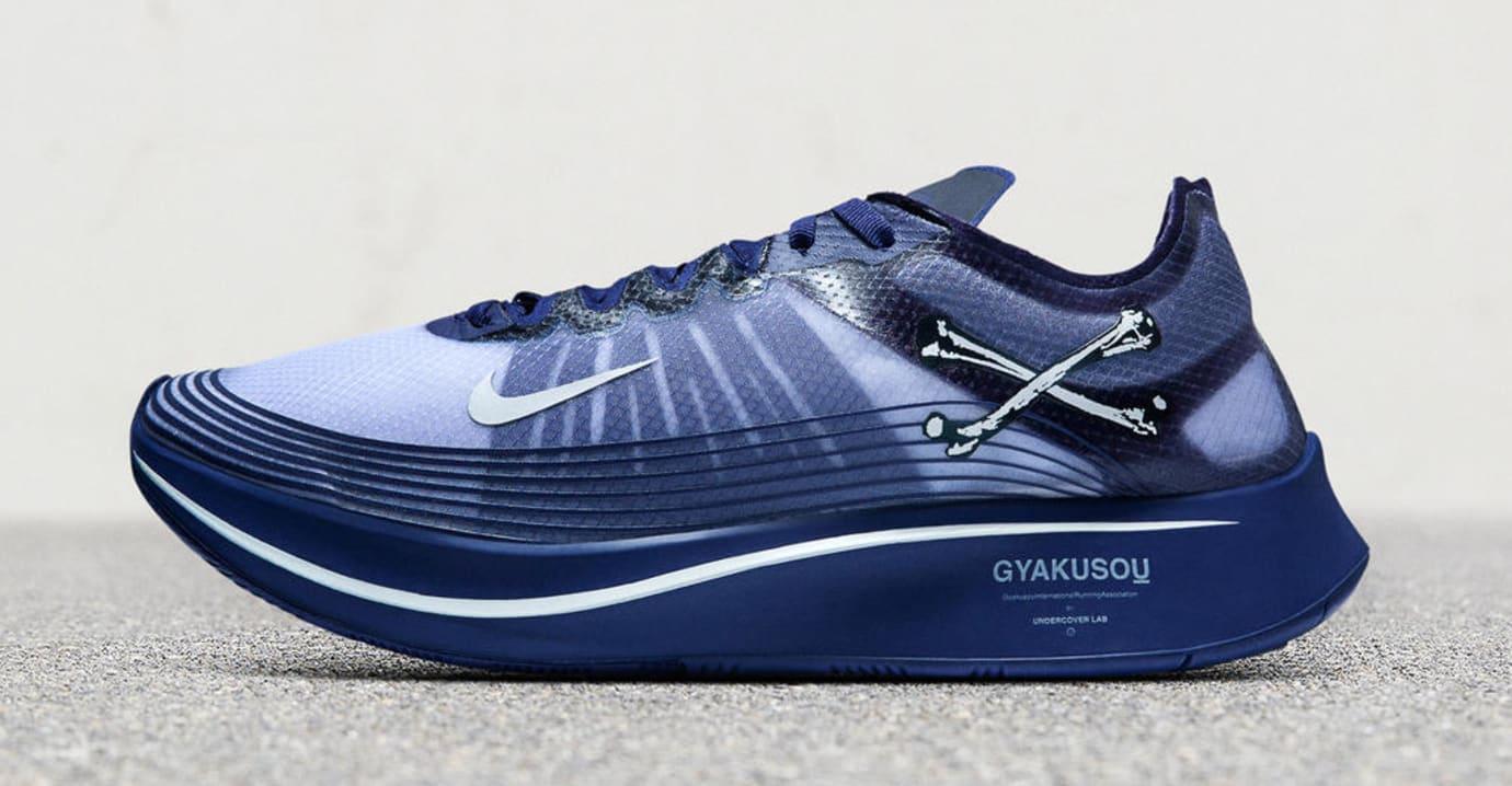 Nike Zoom Fly SP Gyakusou 'Navy Blue' (Lateral)