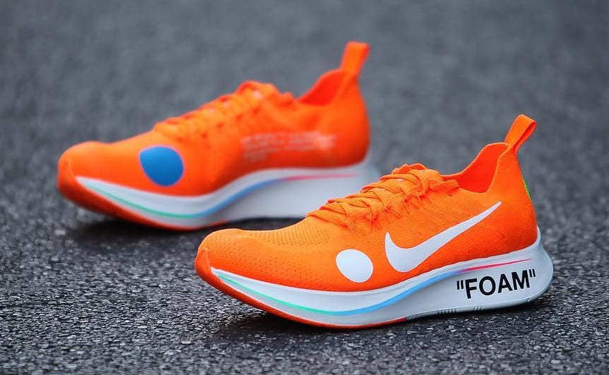 Off-White x Nike Zoom Fly Mercurial Flyknit Total Orange Release Date AO2115-800 Medial