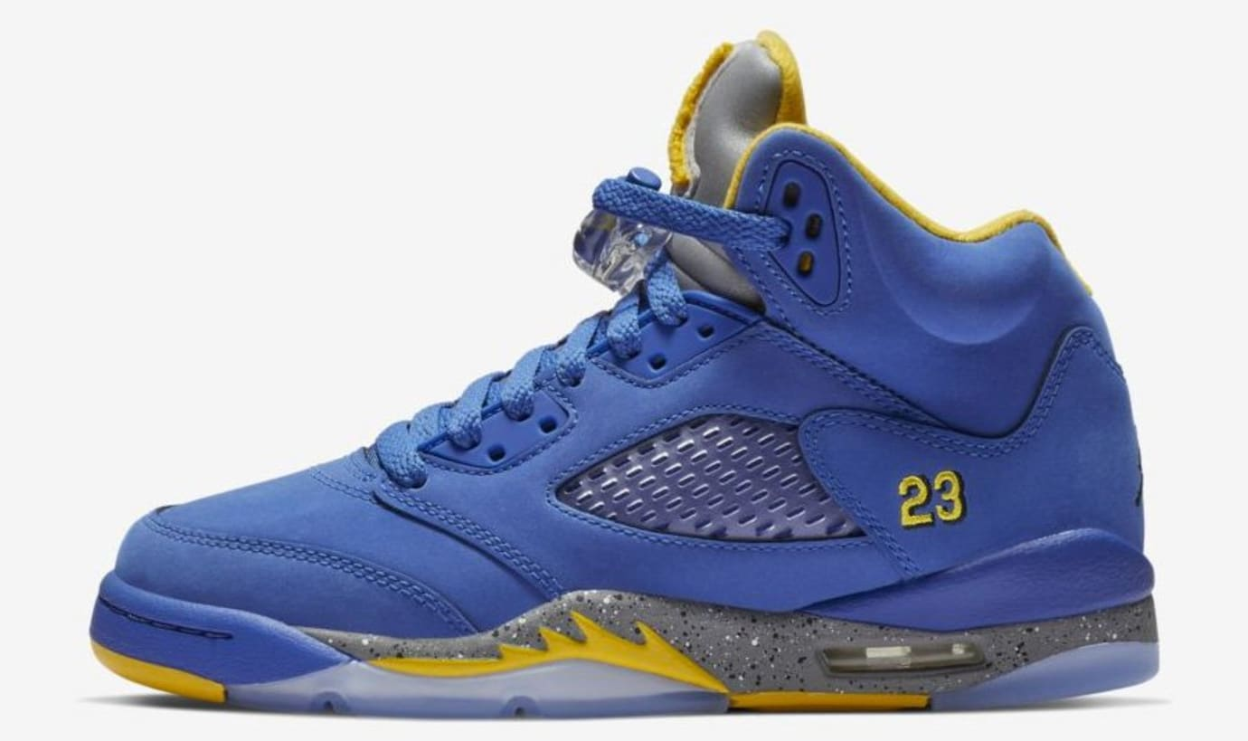 0ee612613ea Air Jordan 5 JSP Laney  Varsity Maize     Varsity Royal  Release ...