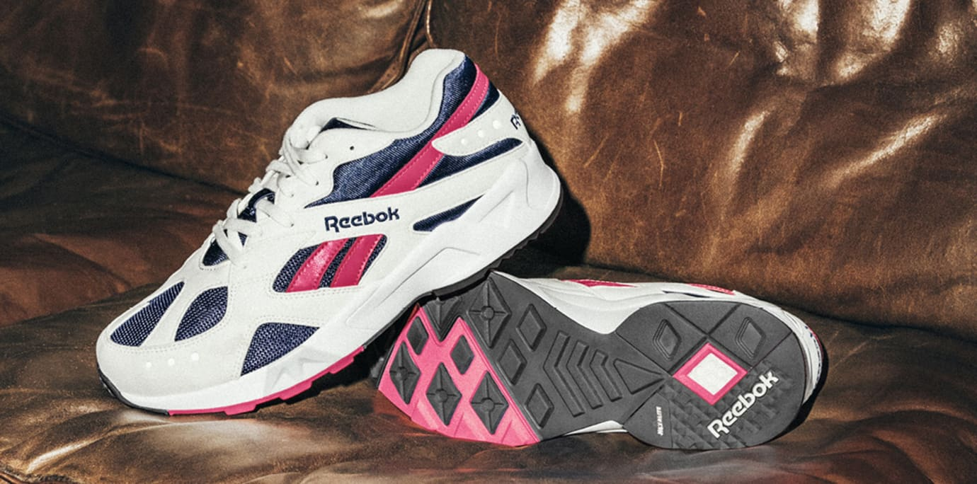 Reebok Aztrek OG 'Chalk/Collegiate Royal/Bright Rose' CN7068 (Pair)