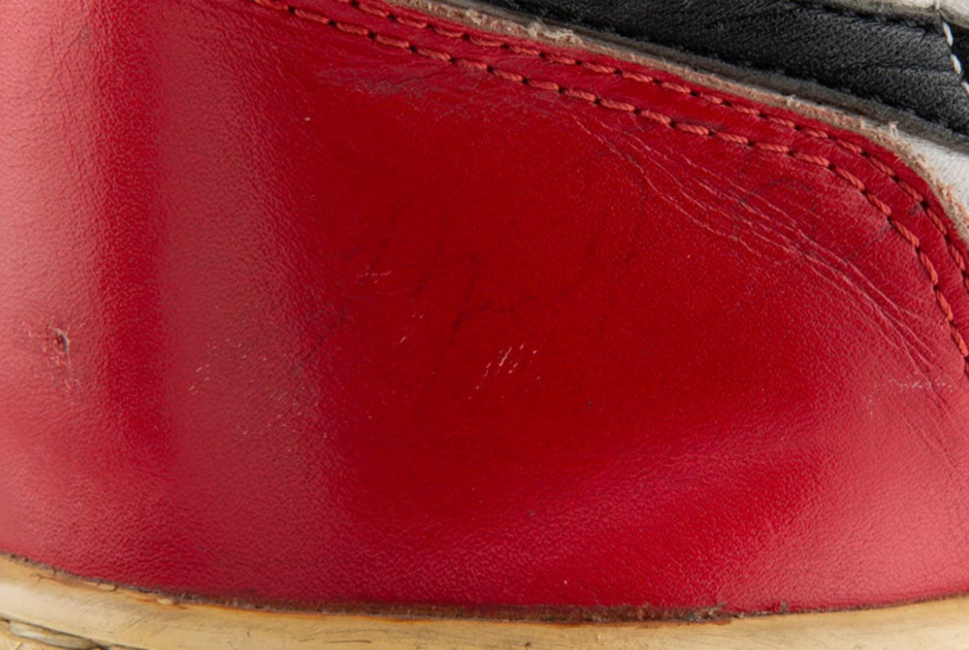 Game Worn, Autographed 1984-1985 Air Jordan 1 'Black Toe' 5