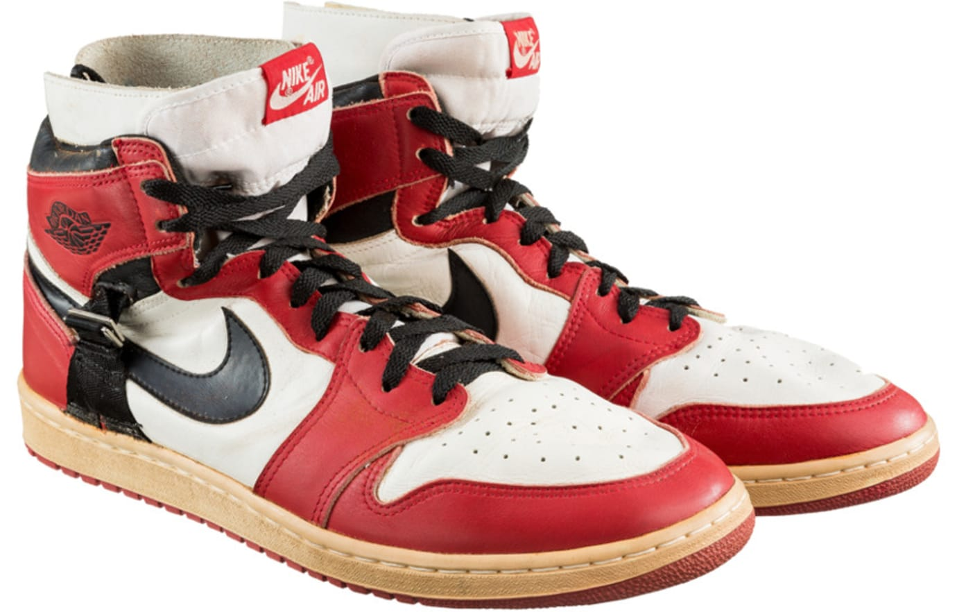 510c361ba79c75 Air Jordan 1 Post-Injury Modification Sample from 1986 Sells at ...