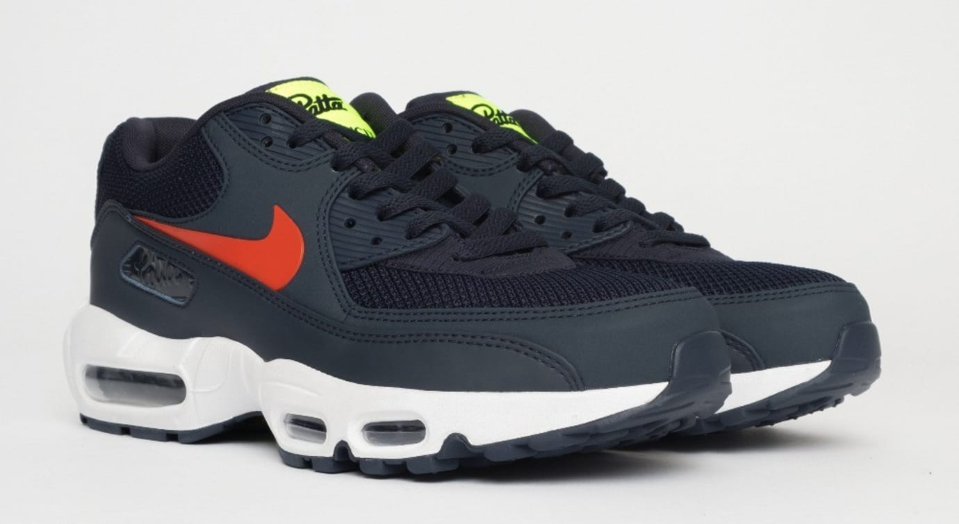 Patta x Nike Air Max 90 x 95 'Obsidian' CJ4741-400 (Pair)