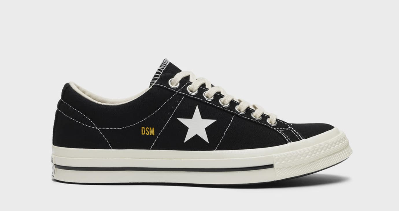 ac42af783094d6 Dover Street Market x Converse One Star  Black  and  White  Release ...