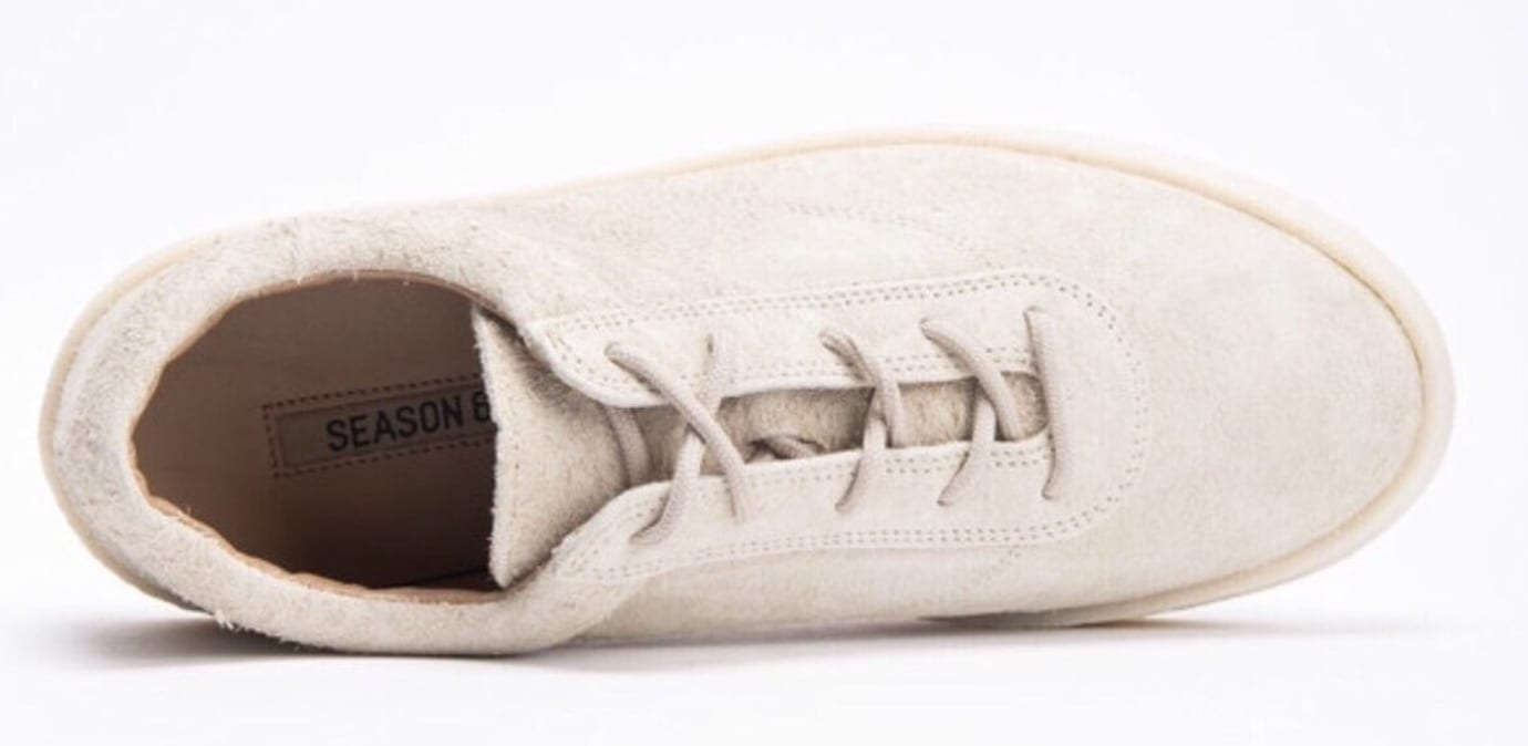 Kanye West Yeezy Chalk Thick Shaggy Suede Crepe Sneaker