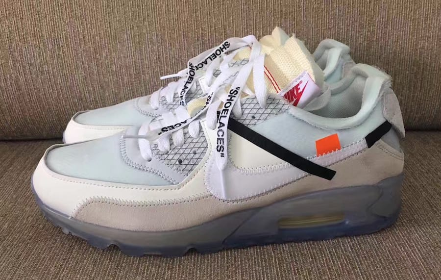 Off-White x Nike Air Max 90 Ice Release Date Profile