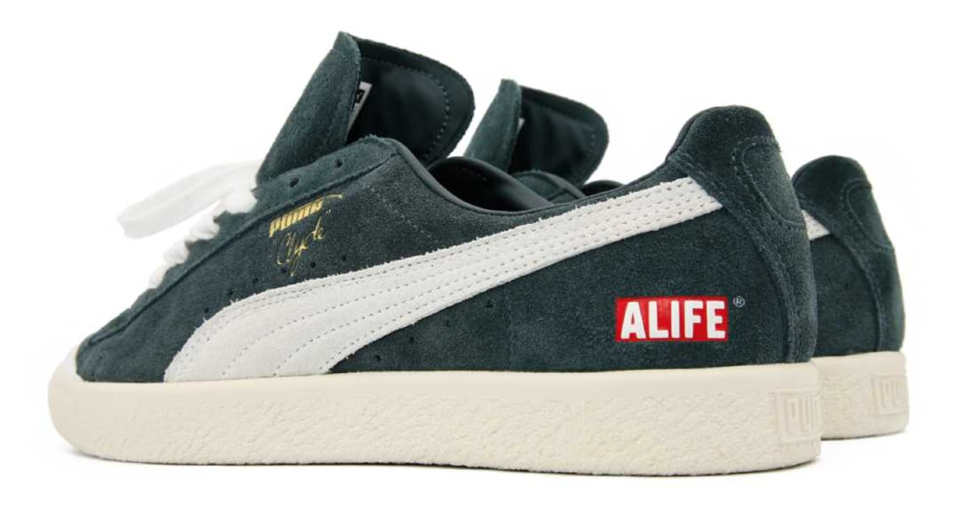 ALIFE x Puma Clyde Green Release Date Back