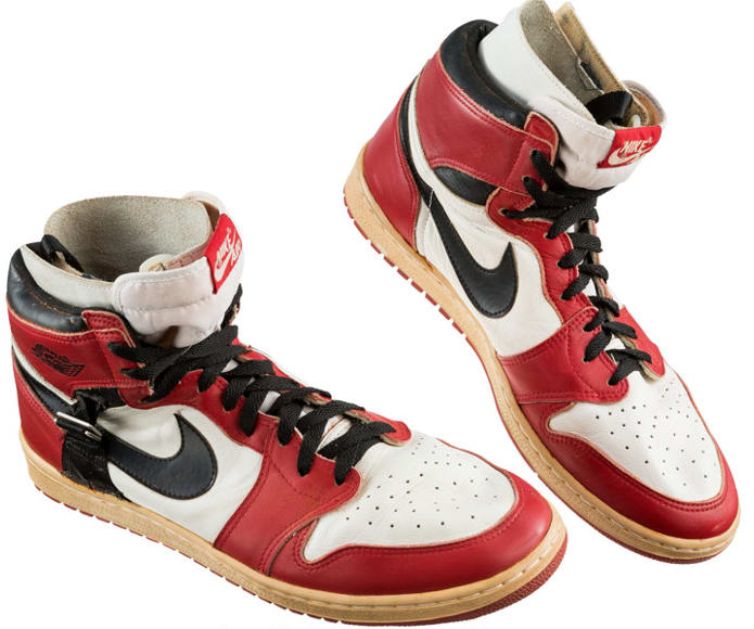 ... discount code for image via heritage auctions air jordan 1 high post  injury modification sample 1985 e7fd4e358b