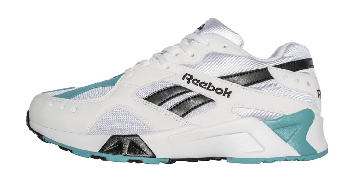 Reebok Aztrek OG 'White/Solid Teal/Black' CN7067 (Lateral)