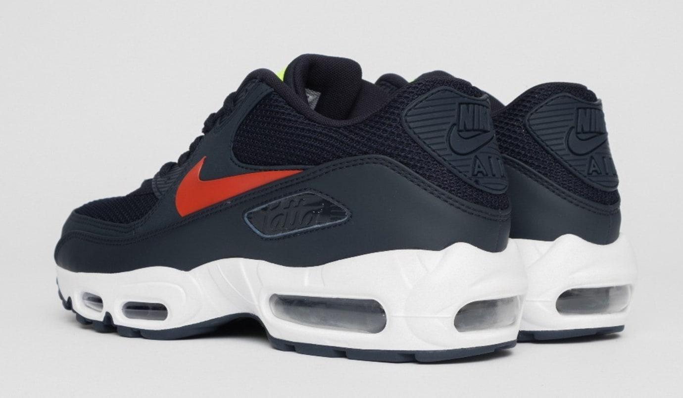 Patta x Nike Air Max 90 x 95 'Obsidian' CJ4741-400 (Heel)