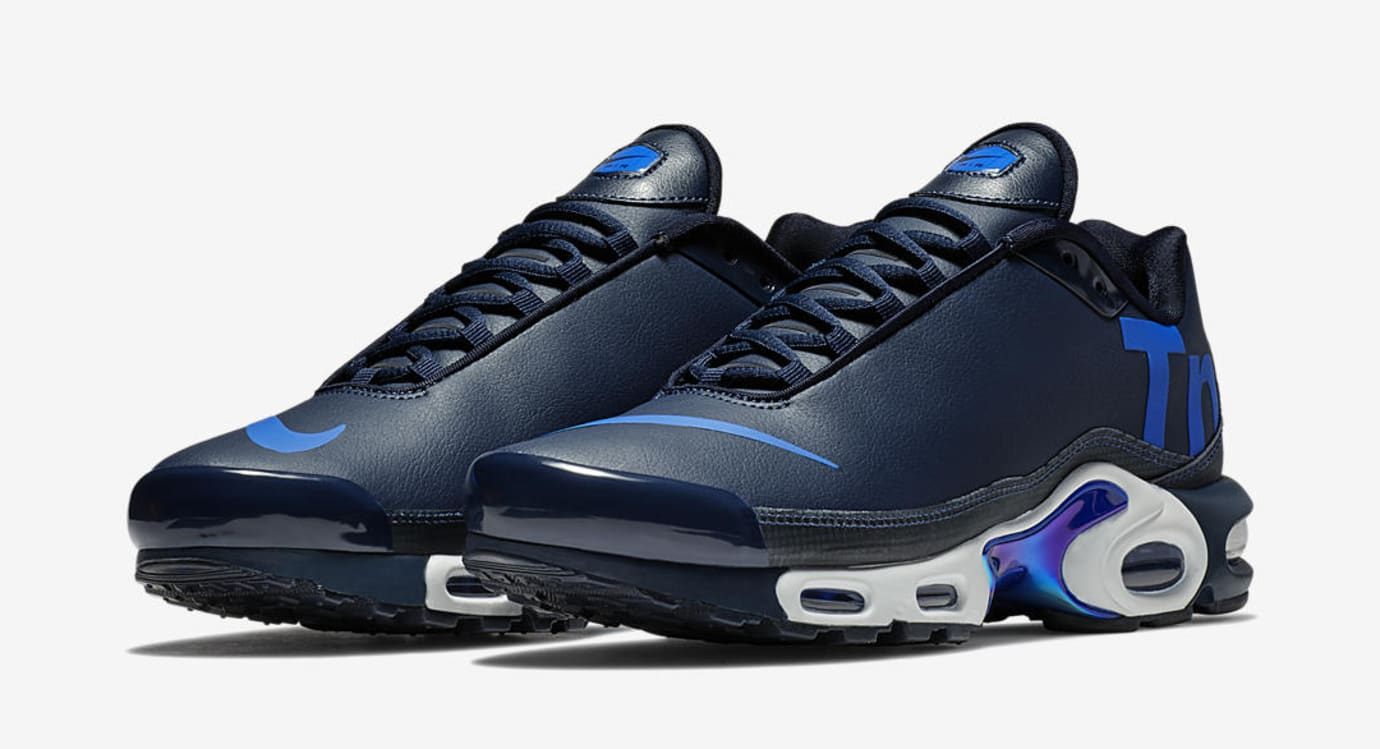 separation shoes 565af d06b1 Image via US11 · Nike Air Max Plus Leather Big Logo  Navy Royal Blue  (Pair)