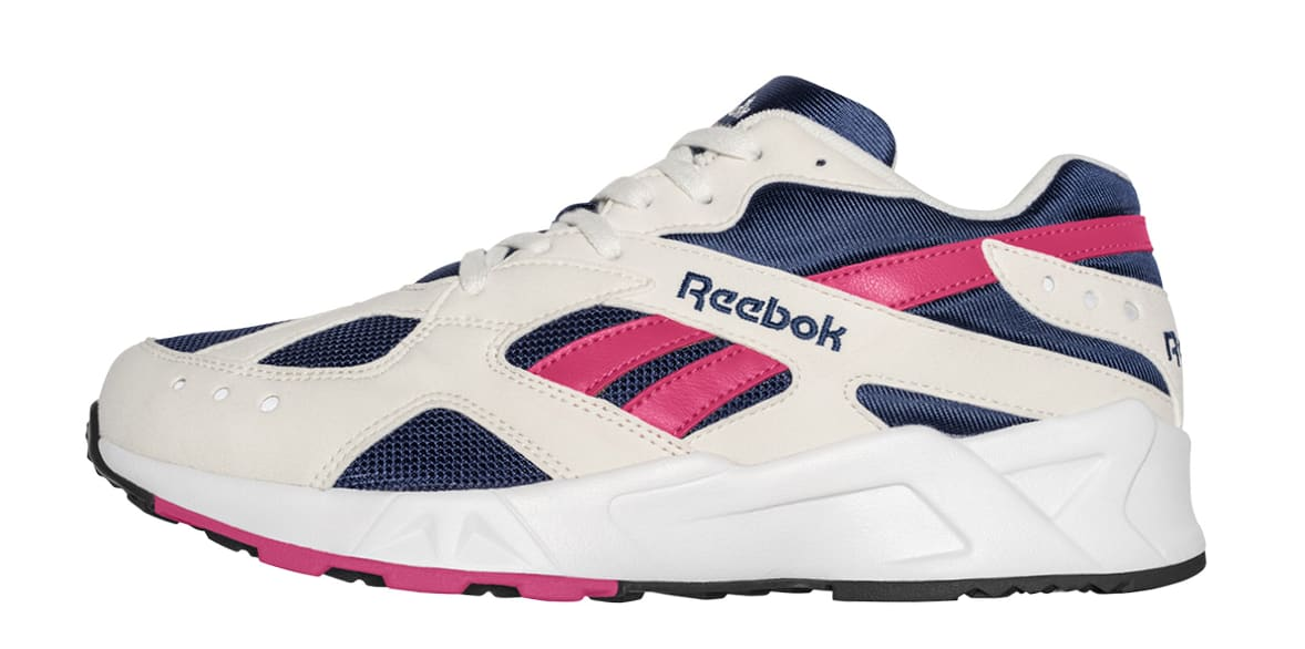 Reebok Aztrek OG 'Chalk/Collegiate Royal/Bright Rose' CN7068 (Lateral)