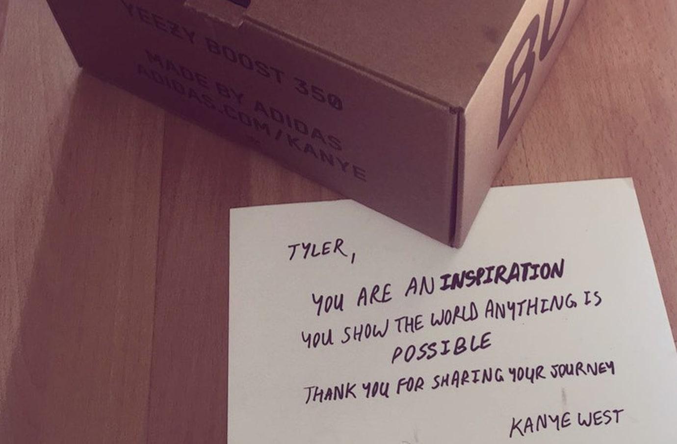 Kanye West Sends Paralyzed Fan Yeezys Handwritten Note