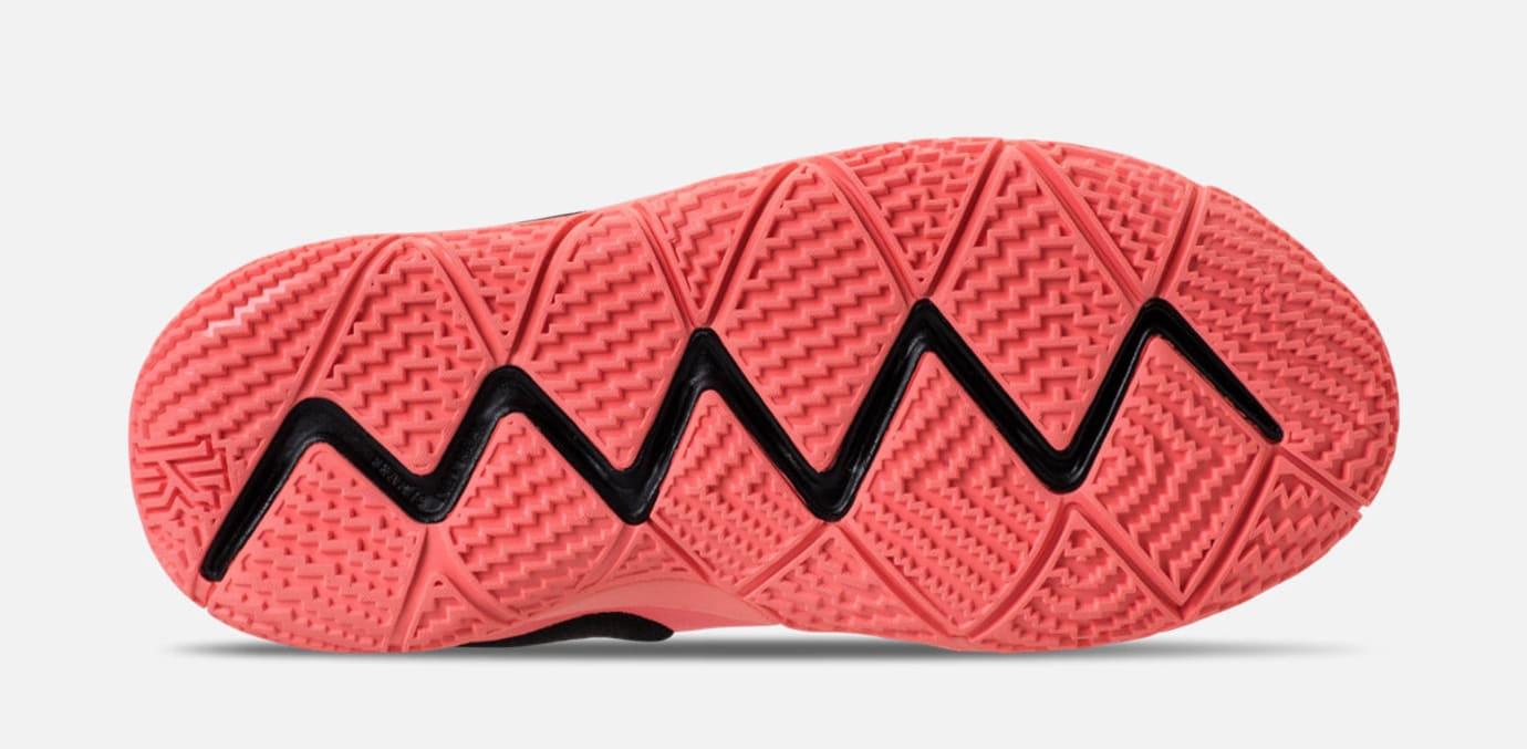 c0f01d902e76 Image via Finish Line Nike Kyrie 4 GS  Lt Atomic Pink Hyper Pink  (Sole)