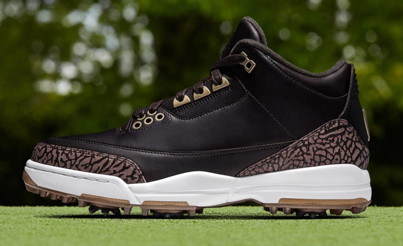 new concept 11bb0 91c7d Image via Nike Air Jordan 3 Golf Premium  Bronze  (Lateral)