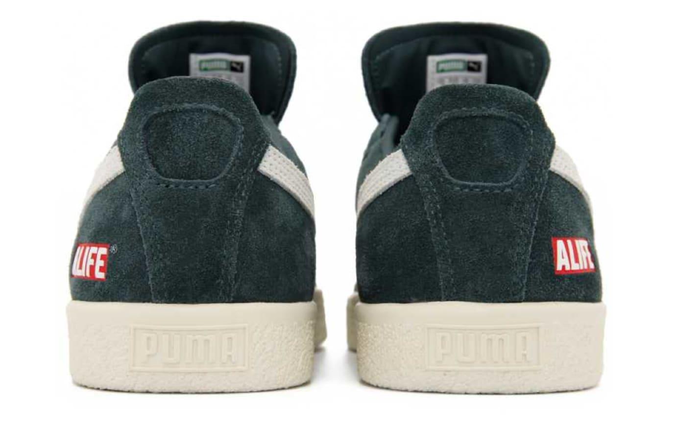 ALIFE x Puma Clyde Green Release Date Heel