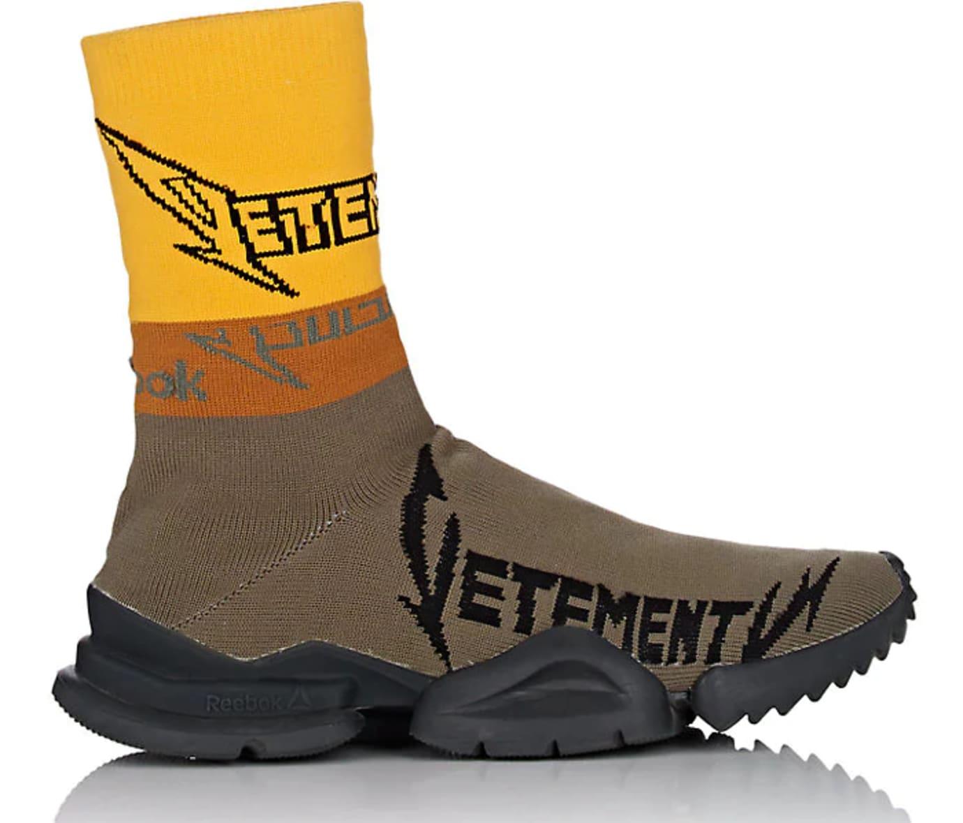 Vetements x Reebok Sock Runner 'Olive/Yellow/Black'