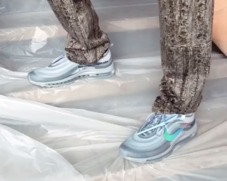 Off-White x Nike Air Max 97 'Grey' (On-Foot)