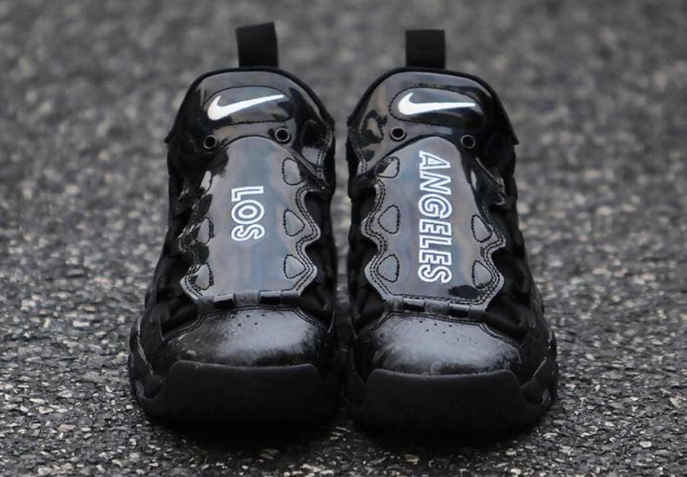 Nike Air More Money 'Black/Los Angeles' (Front)