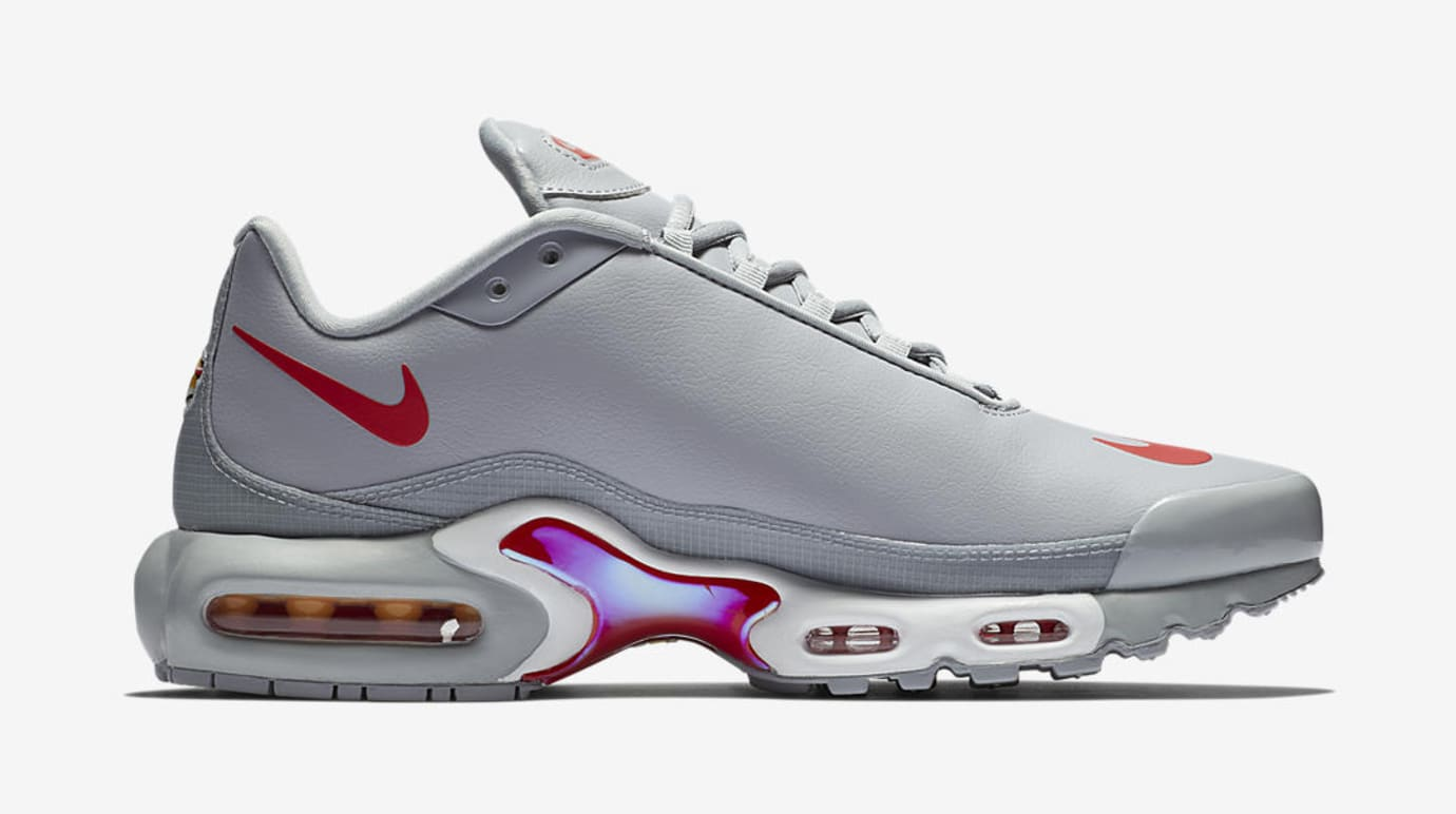 100% originales buena venta vívido y de gran estilo Nike Air Max Plus Leather Big Logo 'Grey/Red' and 'Navy/Royal Blue' Images  | Sole Collector