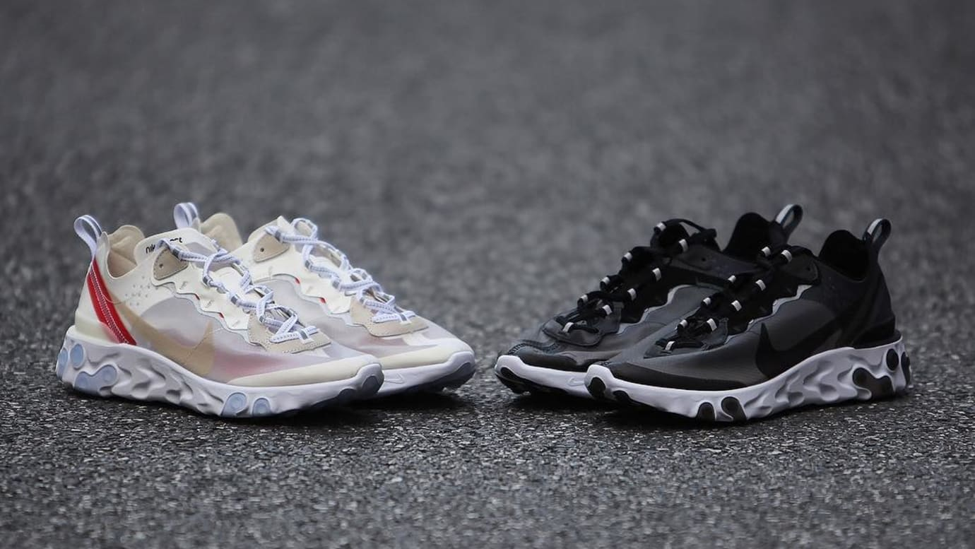 timeless design 9341b 234d5 Nike React Element 87 White and Black