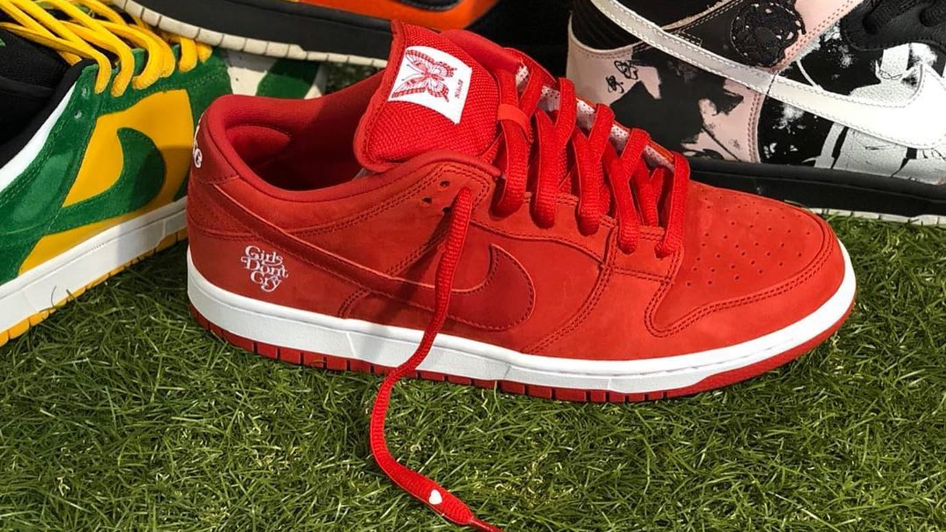 Verdy Girl's Don't Cry x Nike SB Dunk Low 'Red'