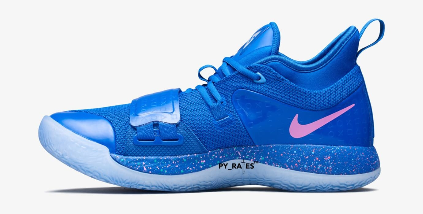b70e4f3f6f73 Playstation x Nike PG 2.5  Blue Multi-Color  (Medial)