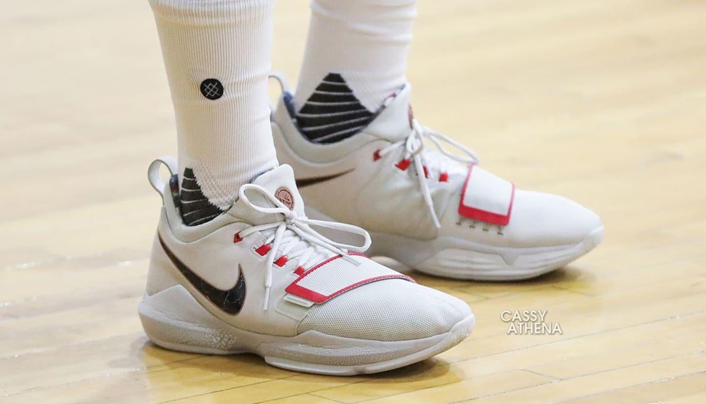 Nike PG1 White Black Red PE