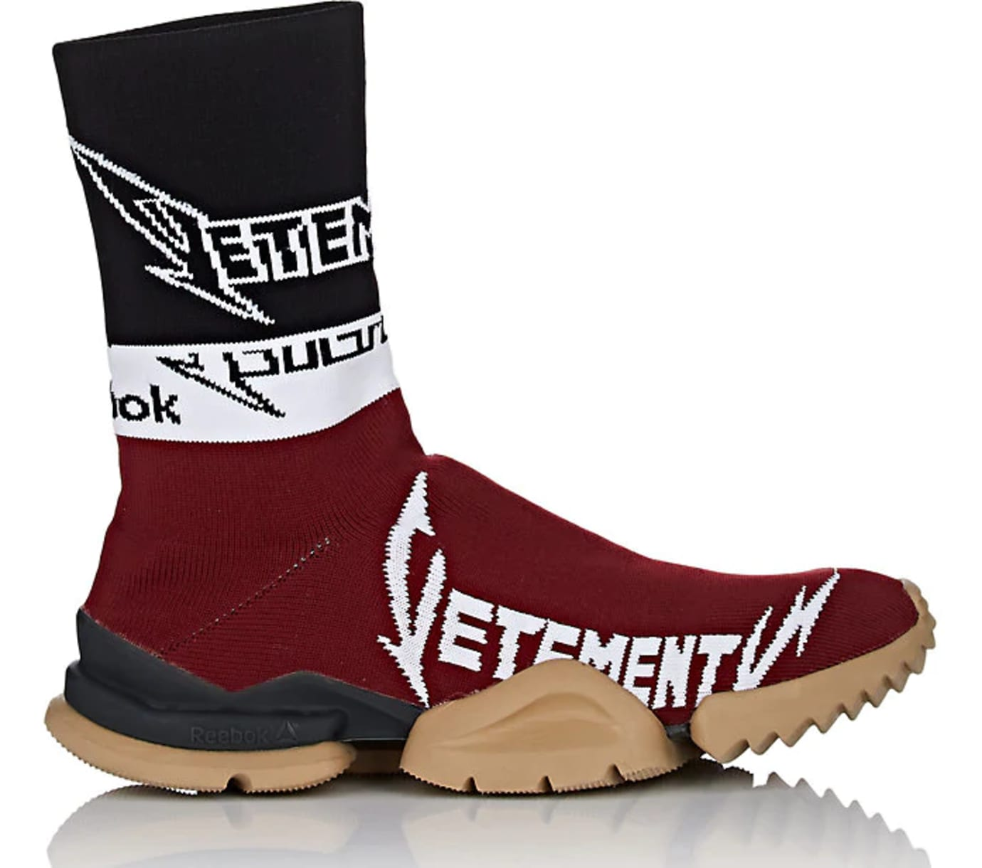 6a32f17c06563 Vetements x Reebok Sock Runner  Burgundy Black White